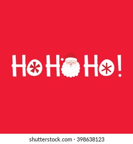 Cute Greeting Card with Ho ho ho and Santa design