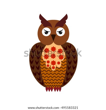 Cute Halloween Owl Stock Vector Royalty Free 495583321