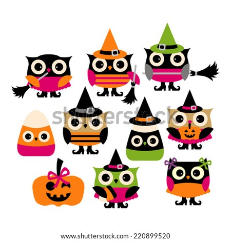 Cute Halloween Owl Vector Clip Art Great For Any Design Projects