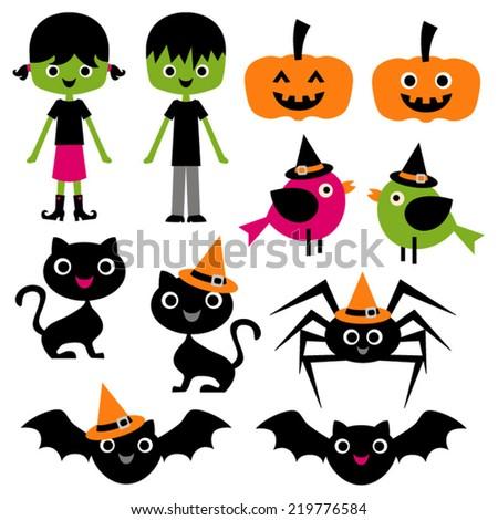 cute halloween vector clip art kids stock vector royalty free rh shutterstock com cute halloween bat clipart cute halloween bat clipart