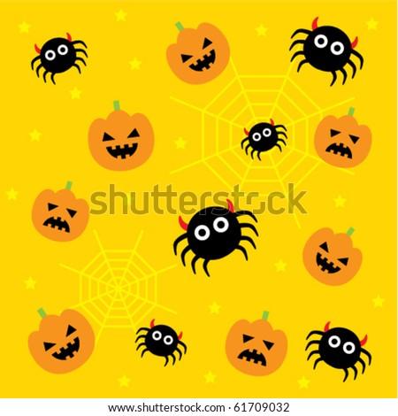 Cute Halloween Wallpaper Stock Vector Royalty Free 61709032