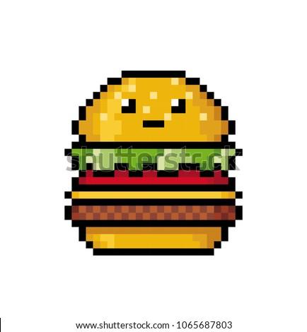 Pixel Art Food Cute