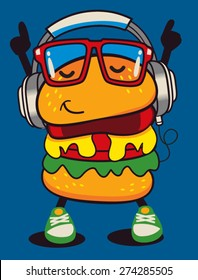 cute hamburger vector design