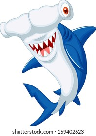 Cute hammerhead shark cartoon