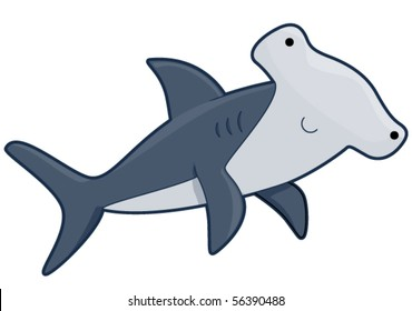 cartoon hammerhead shark images stock photos vectors shutterstock rh shutterstock com cartoon hammerhead shark pictures Hammerhead Shark Drawings
