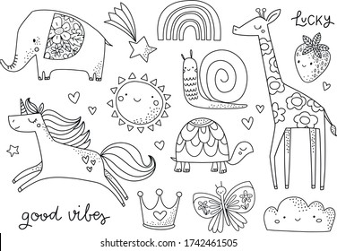 Kids Spring Coloring Sheets Images Stock Photos Vectors Shutterstock