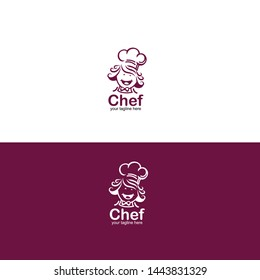 CUTE HAPPY CHEF VECTOR. LOGO FOR RESTAURANT, BAKERY AND ANY MORE - Vector