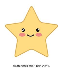 cute happy kawaii star cartoon image