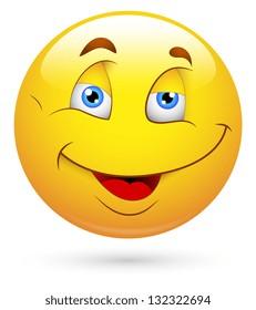 Cute Happy Smiley Vector Face