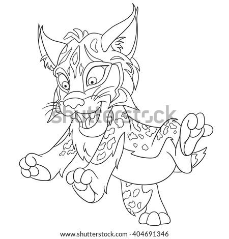 Cute Happy Smiling Wildcat Lynx Bobcat Stock Vector Royalty Free