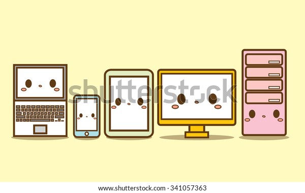 cute hardware vector computer cpu smartphone stock vector royalty free 341057363 https www shutterstock com image vector cute hardware vector computer cpu smartphone 341057363