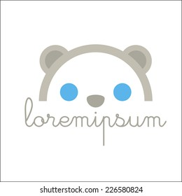 Cute head symbol with sample text.