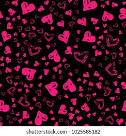 Cute heart pattern for kids, girls and boys. Creative vector background is made up of hearts and flowers. It can be used to create prints, packaging, invitations, simple designs. Cute heart pattern
