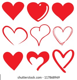 cute heart / T-shirt graphics