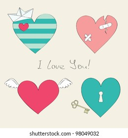 Cute hearts collection