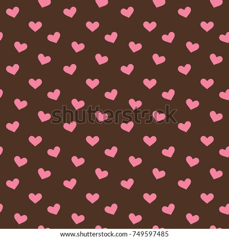 Cute Hearts Pattern Wallpaper Background Vector Stock Vector
