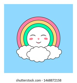 Cute heavenly character for the design of childrens wallpapers and prints clothes.