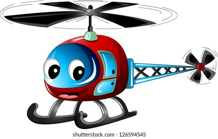 cute helicopter cartoon