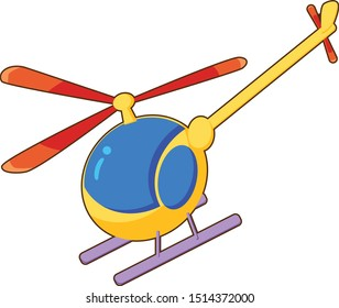 cute helicopter vector art illustration