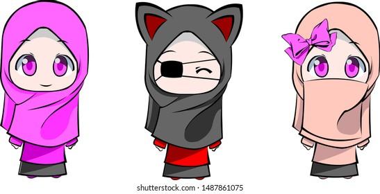 72+ Gambar Kartun Hijab Anak HD Terbaru