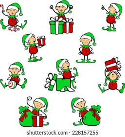 Cute Holiday Elf Helpers