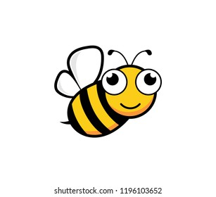cute honey bee mascot character vector logo design template inspiration for honey product brand