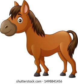 Cute horse pony cartoon. vector illustration