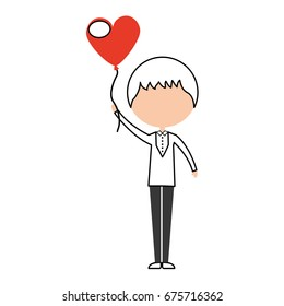 cute husband with heart shaped pumps avatar character