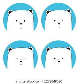 Cute ice bear cartoon collection