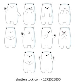 Cute ice bear collection