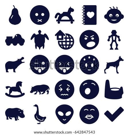 Cute Icons Set Set 25 Cute Stock Vector (Royalty Free