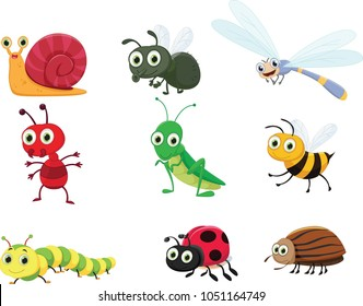 cute insect collection set