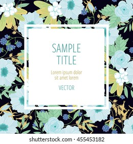 Cute invitation design template to celebration on card with flower decoration vector illustration