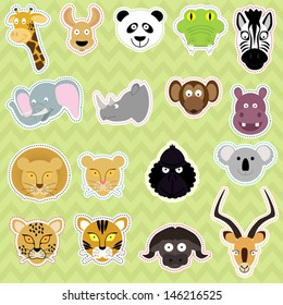 Cute Isolated Animals - Vector EPS10 Set