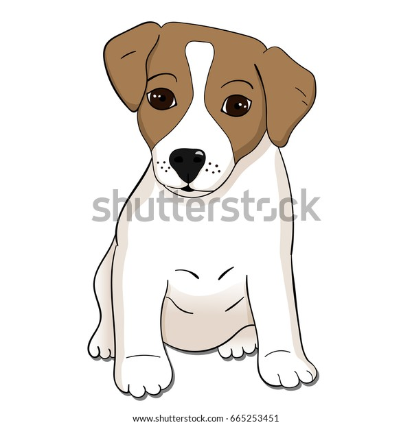 Cute Jack Russel Terrier Puppy Vector Stock Vector Royalty Free