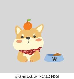 犬 柴犬のイラスト素材画像ベクター画像 Shutterstock