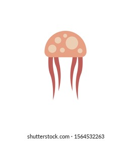 cute jellyfish logo design template. jellyfish symbol icon vector.