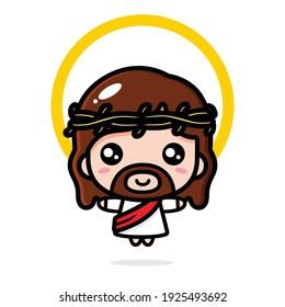 cute jesus christ vector design