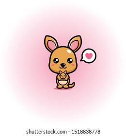 cute kangaroo mascot vector design