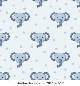 Cute Kawaii Elephant Stock Illustrations Images Vectors