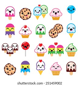 Kawaii Cupcakes Stock Vectors Images Vector Art Shutterstock