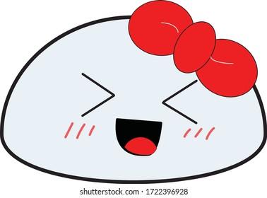 cute kawaii rock stone vector emoji