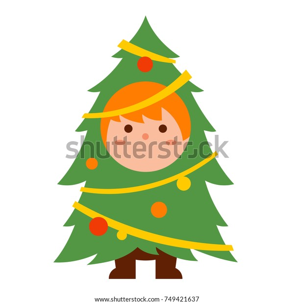 Cute Kid Christmas Tree Costume Cartoon Stock Vector Royalty Free 749421637 Decorate your classroom with christmas craft projects for kids. https www shutterstock com image vector cute kid christmas tree costume cartoon 749421637