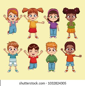 Cute kids cartoon