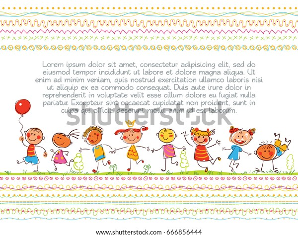 Cute Kids Children Book Cover Template Stock Vector Royalty