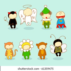 Cute kids in costume. For cuter costumes see image no. 66102025