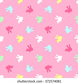 b5aade034e5a Cute kids pattern with delicate shades and bunnies. Perfect for children's  clothing, design of