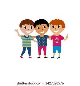 Three Cartoon Friends Images Stock Photos Vectors Shutterstock