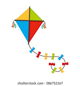 cute kite flying icon