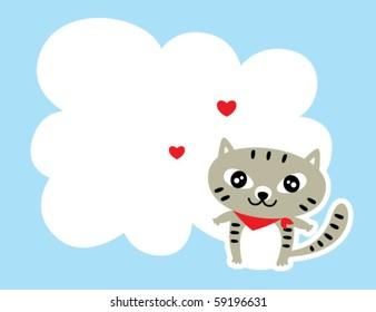 cute kitten love message